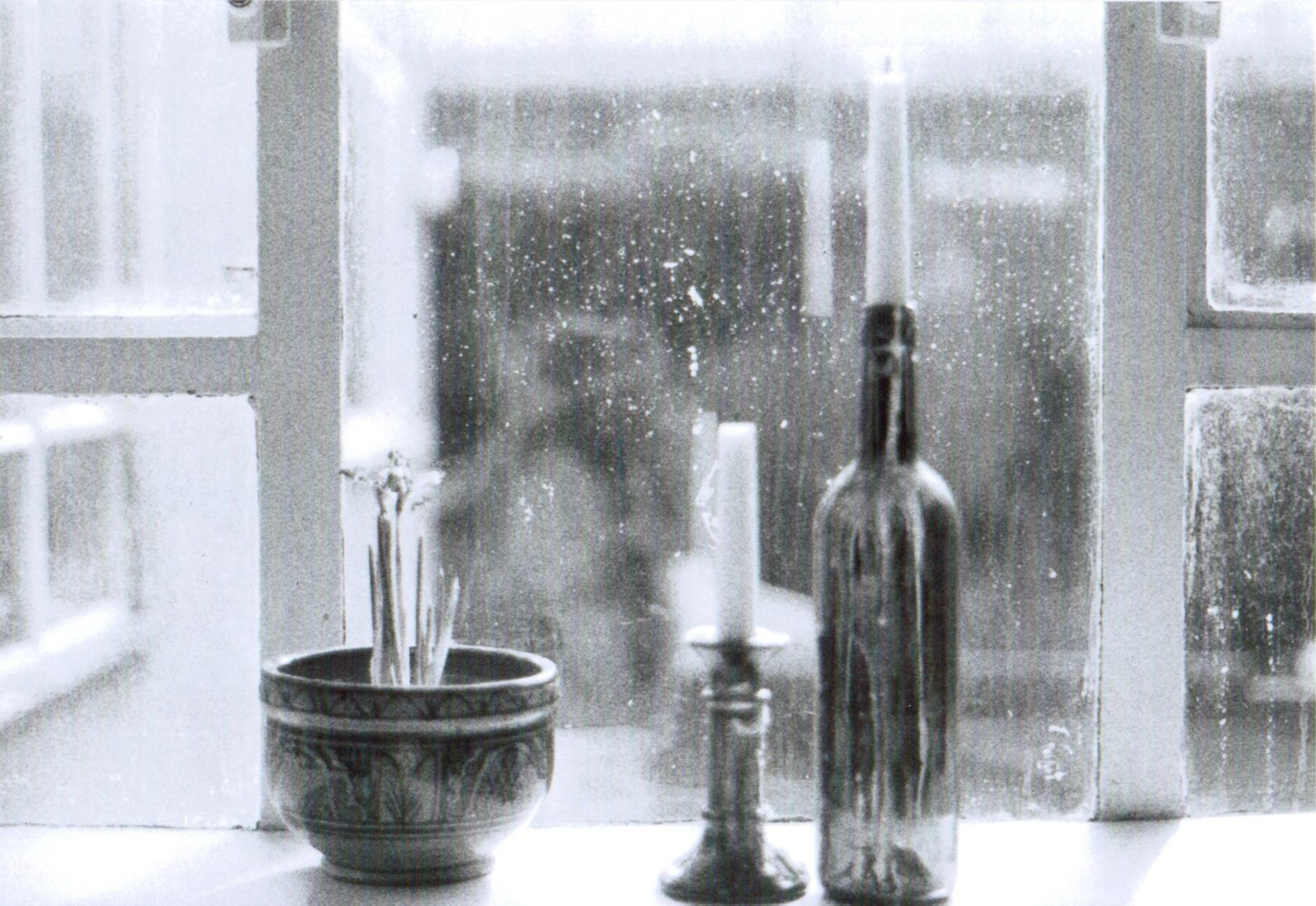35mm candles in the window
