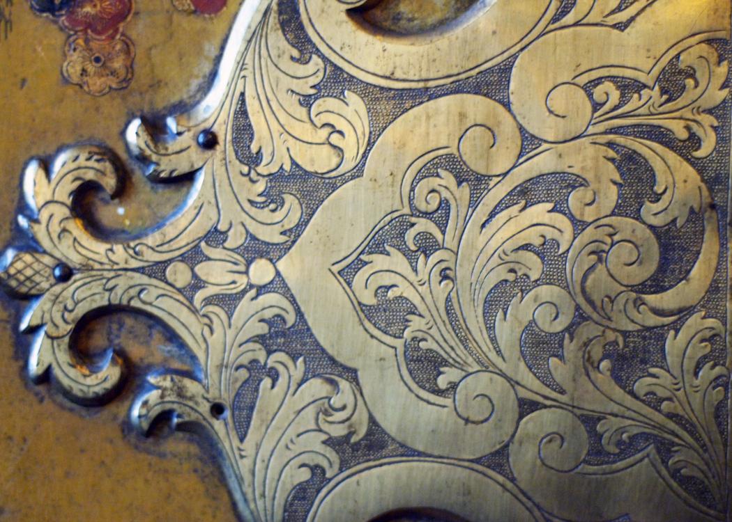 wardrobe brass etching